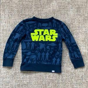 GAP x Star Wars Blue Pullover Sweatshirt, size 5